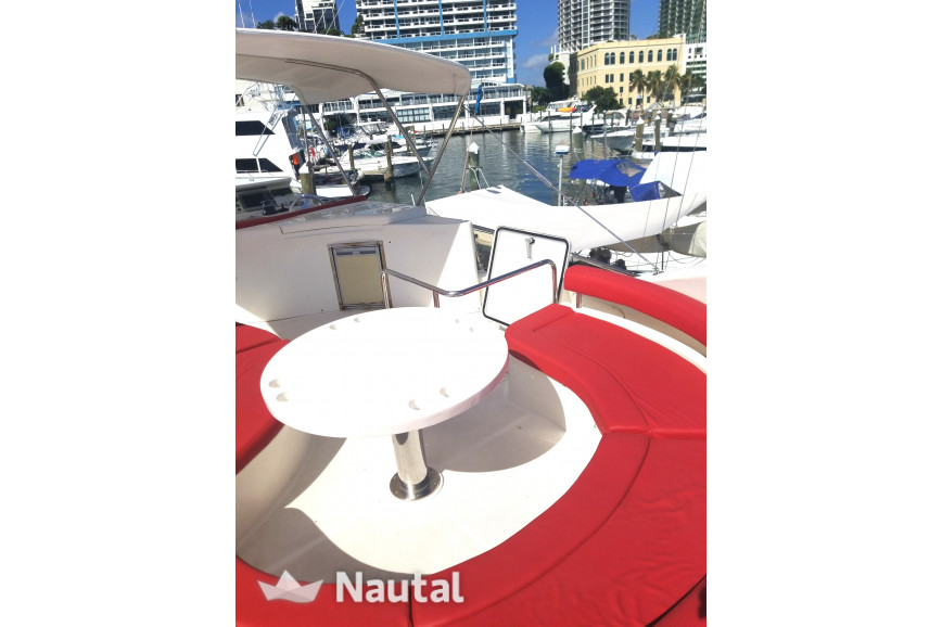 Yacht rent Ferretti 60' in Downtown Miami, South Florida