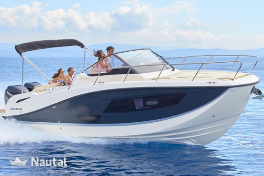 Motorboat rent 0 Quicksilver 875 Sundeck in Port Adriano, Mallorca