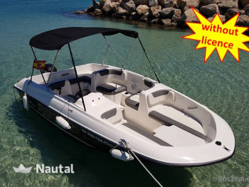 Rent this boat without a license and disocver the coast of Mallorca