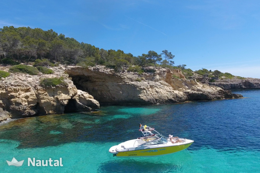 Motorboat rent Monterey SF 214 in S'Arenal, Mallorca