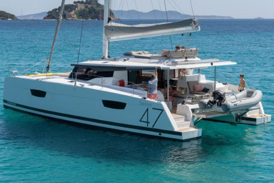 Catamaran rent Fountaine Pajot Saona 47-  in Port de Sant Antoni, Ibiza