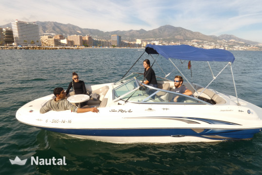 Motorboat rent Sea Ray 210 sandeck sport in Fuengirola, Málaga