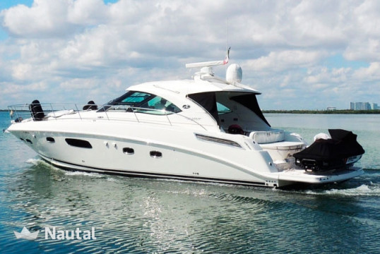 Motorboat rent Sea Ray 47 in Aquatours Marina, Cancun