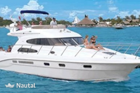 Motorboat rent Sealine 47 in Aquatours Marina, Cancun