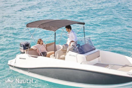 Motorboat rent Quicksilver 605 OPEN ACTIV in Puerto de Alicante, Alicante