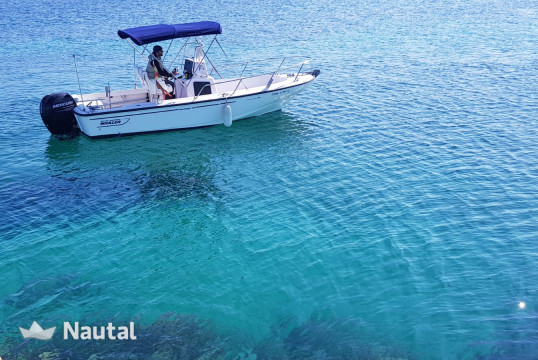 Motorboat rent Boston Whaler Outrage III 19 in Fornells, Menorca