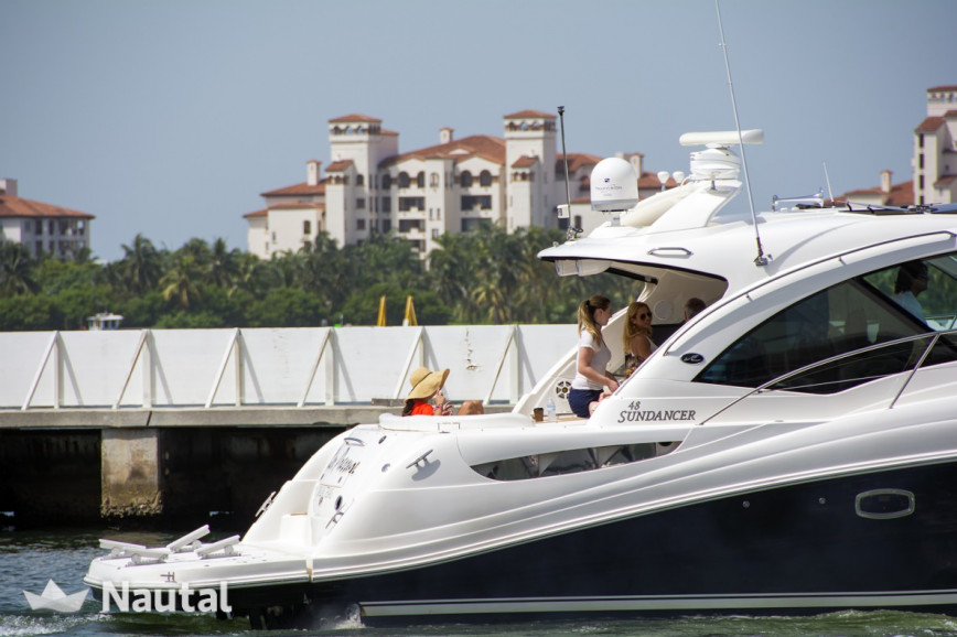 Motorboat rent Sea Ray 48 ft in Miami Beach, South Florida