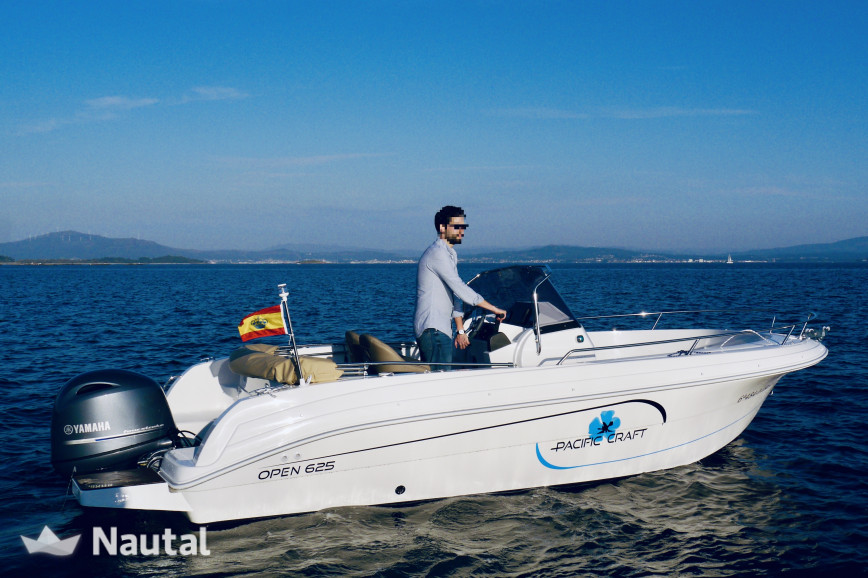 Motorboat rent Pacific Craft 625 Open in Puerto de Palma, Mallorca
