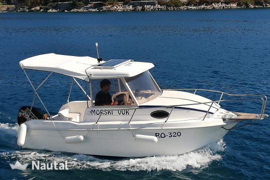 Motorboat rent Saver 540 Cabin Fisher in Port Trogir, Split, Hvar