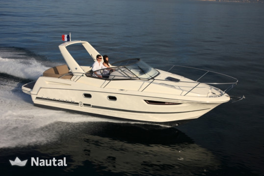 Motorboat rent Jeanneau Leader 8 in Port Pierre Canto, Alpes Maritimes - Cannes