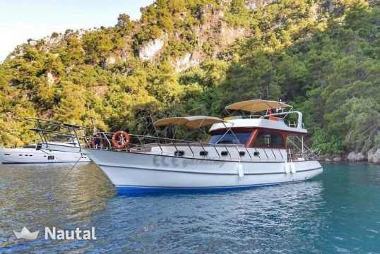 Motorboat rent custom  built 15M motor yacht in Fethiye Municipalitiy Port, Fethiye