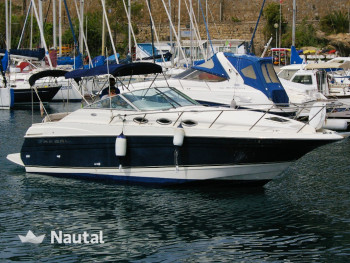 Rent this motorboat of 8 50 meter to reach the best coves