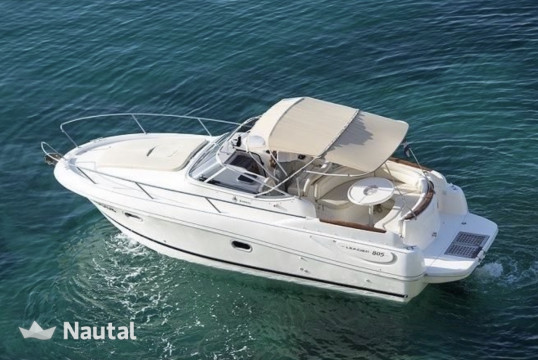 Motorboat rent Jeanneau Leader 805 in Port de Sant Antoni, Ibiza