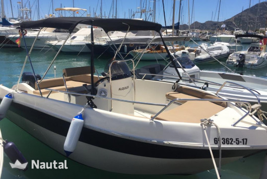 Motorboat rent Shiren 22 in Port d'Altea, Alicante
