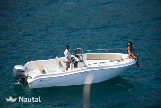 Motorboat rent Allegra 21 open in Porto di Moniga del Garda, Lake of Garda