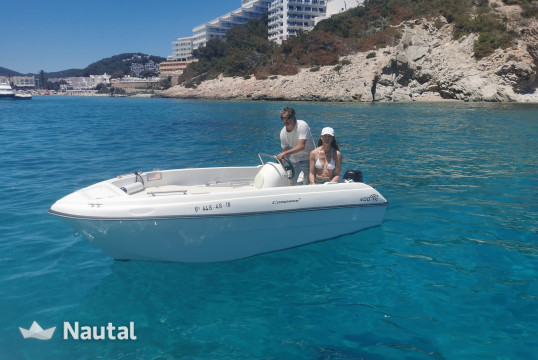 License free boat rent Compass GT 400 in Santa Eulàlia, Ibiza