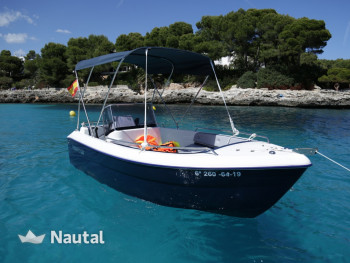 Motorboat rent Pegazus 460 in Cala Llonga, Mallorca