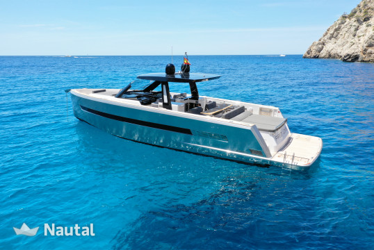Motorboat rent Fjord 52 OPEN in Port Adriano, Mallorca