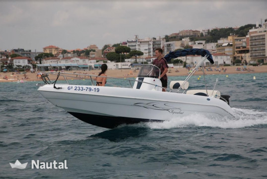 Motorboat rent SG Boats Aquabat Sport Line 19 in Blanes, Girona