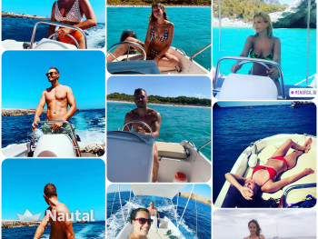 License free boat rent Compass GT in Cala Forcat, Menorca