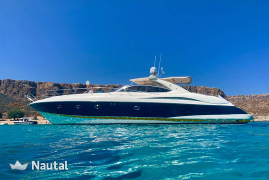 Motorboat rent Sunseeker 55 in Khania, Crete