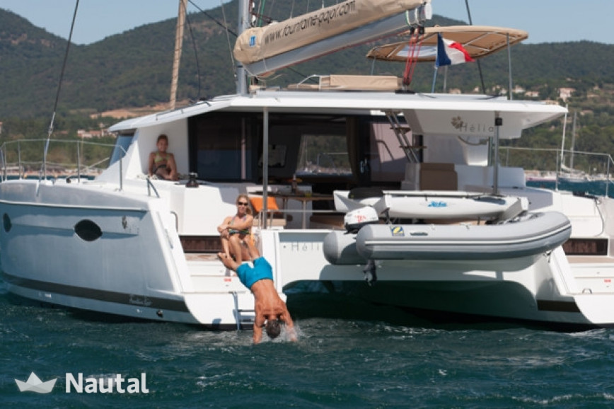 Catamaran rent Fontaine Pajot Helia 44 with watermaker & A/C - PLUS in Hodge's Creek Marina, British Virgin Islands